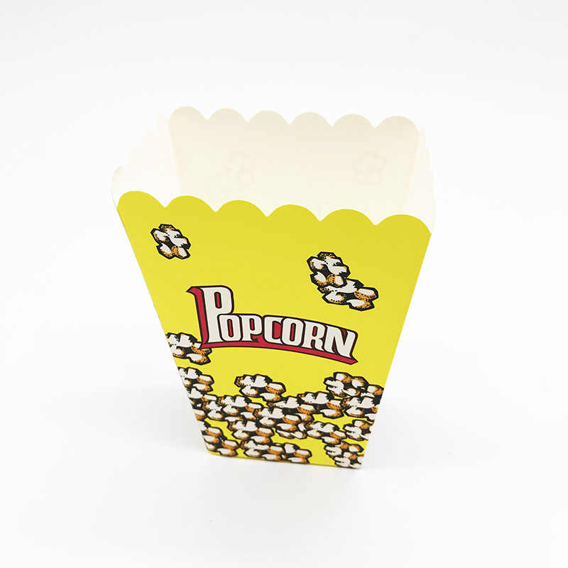 6pcs Lot Yellow Color Theme Popcorn Boxes Baby Shower Birthday Party Decorations Kids Favor Yellow Popcorn Boxes