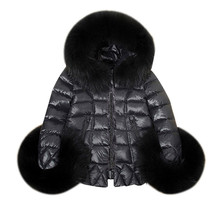 T0542-D New Winter Women's long-sleeved fur collar Cotton Parka Fur Collar Hooded Coat Quilted Jacket