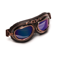 Triclicks Helmet Steampunk Copper Glasses Motorcycle Flying Goggles Vintage Pilot Biker Eyewear Goggles Protective Gear Glasses 3
