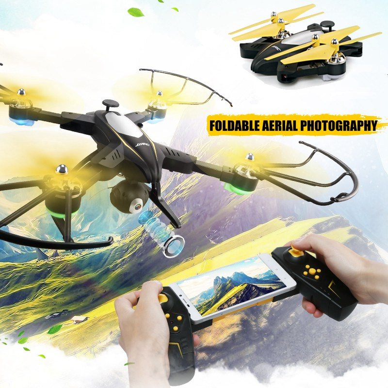 JJRC H39WH Foldable Drone With Camera 720p Wifi Fpv Quadcopter Rc Drones Rc Helicopter Selfie Drone Remote Control Toys Dron H37 global drone foldable selfie drone wifi phone control fpv folding mini tumbler remote control full protection frame with hd cam