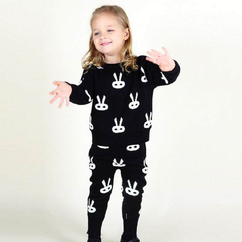 Winter Kids Tops Hoodie Pants Leggings 2pcs Cute Animals Kids Baby Clothing Sets Warm Outfits Christmas Baby Boys Girls Clothes