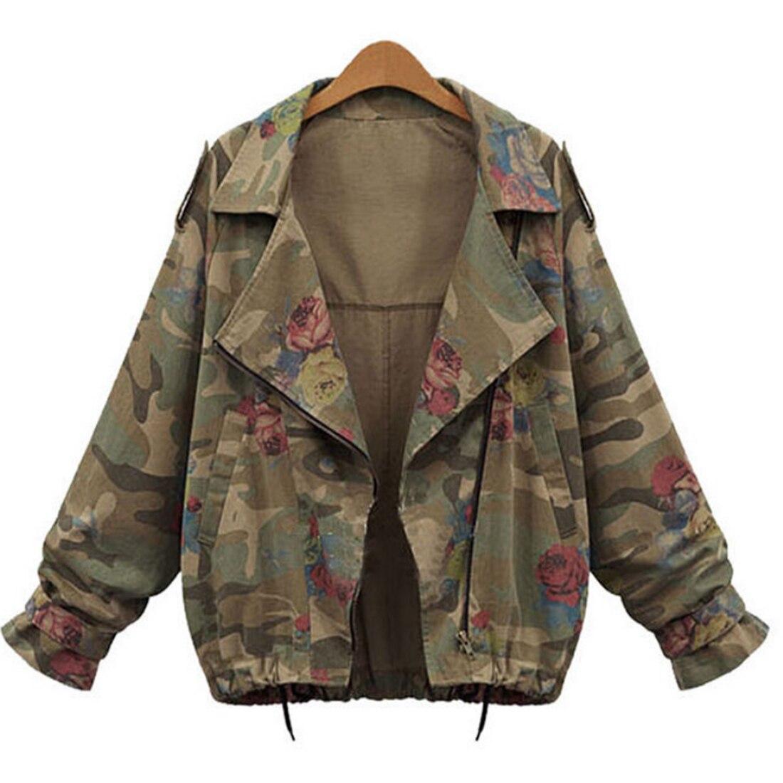 Floral Embroidery Bomber   Jacket   Women Harajuku Pilot   Jacket   2018 Casual   Basic     Jackets   Coat Camouflage Slim Floral   Jacket