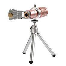 Discount! Universal 12X Mobile Phone Telescope Optical Zoom Clip On Telephoto Lens Camera Tripod