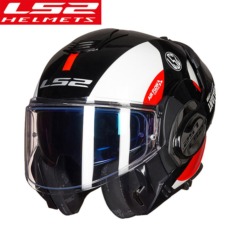 New Arrival ls2 helmet FF399 Chrome-plated helmet Full Face Motocycle helmet Anti-fog patch PINLOCK back somersault helmet ECE ls2 helmet
