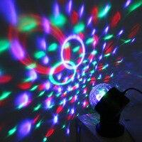 カラフルなミニ吸盤クリスマス魔法のレーザー光ボールステージ黒ディスコパーティーライトサウンドコントロール付きusb充電