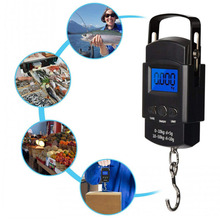 Portable Mini Hand Held digital Hanging Scale suitcase Travel bag Electronic Weighting Luggage Scale fish Hook Balance 50kg/10g стоимость