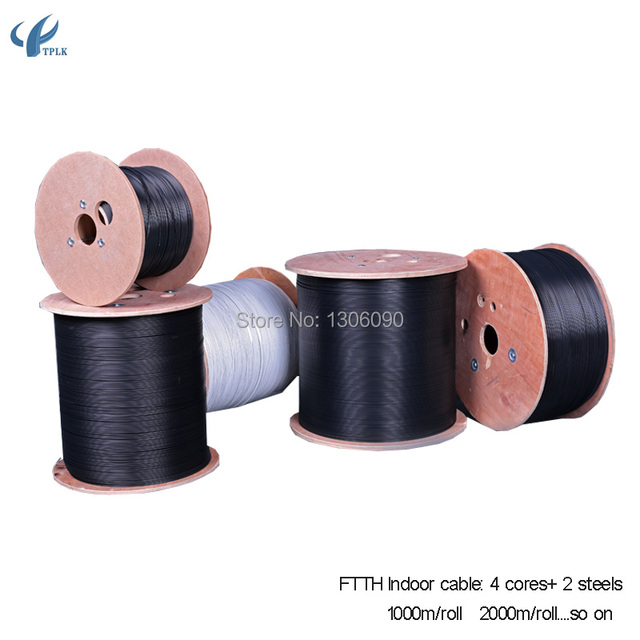 3000m/roll single mode 4 core outdoor FTTH fiber optic Drop Wire ...