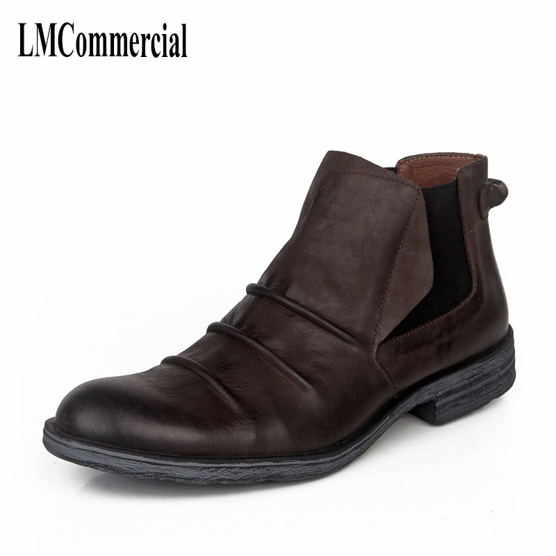 autumn and winter British retro men shoes cowhide cashmere zipper leather shoes breathable boots men casual shoes,Leisure boots autumn and winter with warm cashmere leather boots british retro men shoes martin head layer cowhide shoes boots breathable