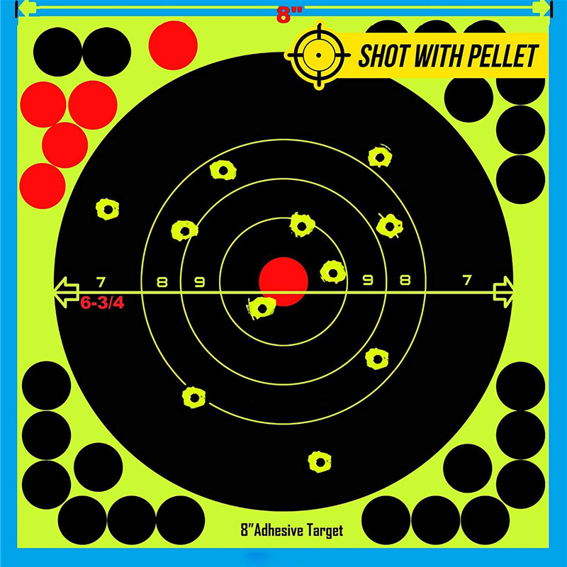 """Image 5 - Hunting 8"""" Reactive Splatter Self Adhesive target stickers Fluorescent Yellow shooting Practice stickers for Airsoft Gun Rifle-in Paintball Accessories from Sports & Entertainment"""