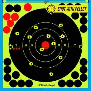 """Image 5 - Jagd 8 """"Reaktiven Splatter Selbstklebende ziel aufkleber Fluoreszierende Gelb schießen Praxis aufkleber für Airsoft Gun Gewehr"""