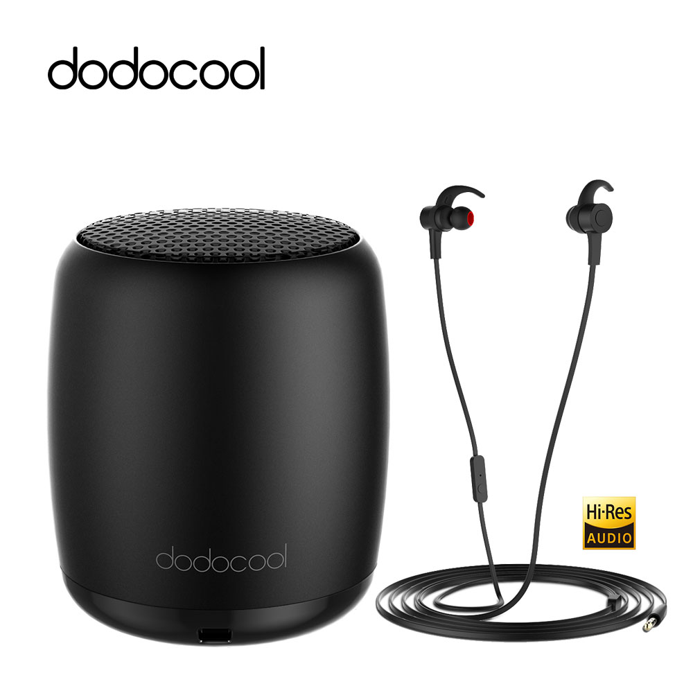 dodocool Mini Portable Rechargeable Wireless Bluetooth Speaker Stereo SoundBox loudspeaker with Selfie Remote Shutter Control