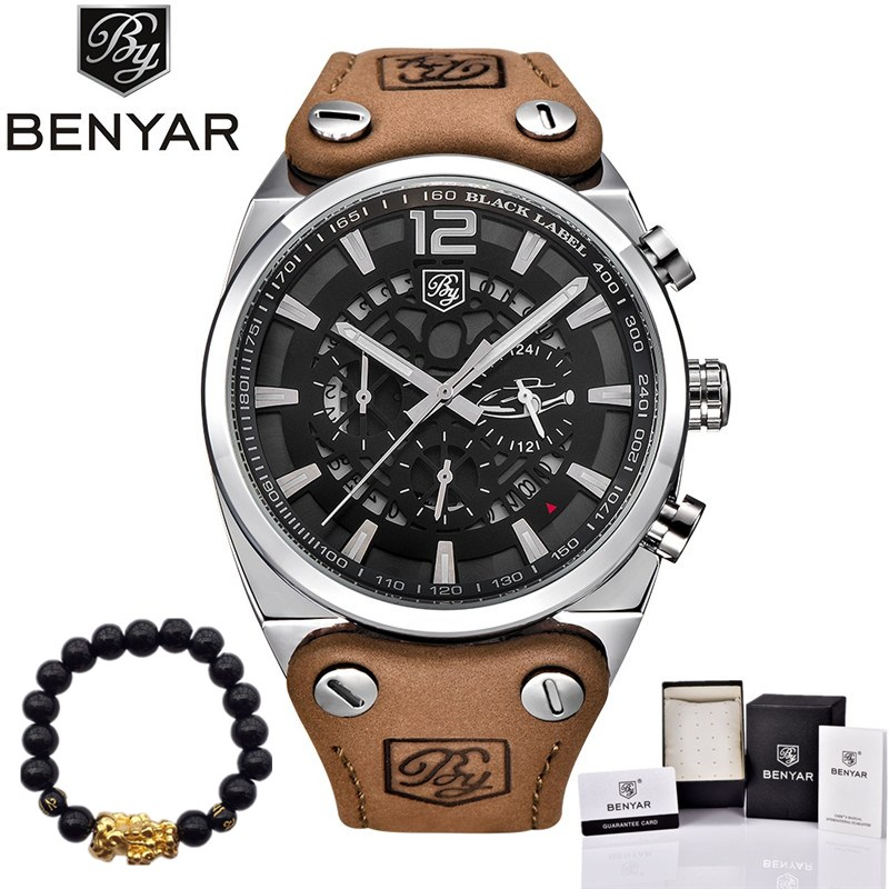BENYAR Men Watches Luxury Brand Chronograph Sport Reloj Hombre Fashion Military Waterproof Quartz Watch Clock Relogio Masculino luxury brand casima men watch reloj hombre military sport quartz wristwatch waterproof watches men reloj hombre relogio