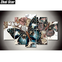 Zhui Star 5D DIY Full Square Diamond Painting Butterfly Multi Picture Combination 3D Embroidery Cross Stitch