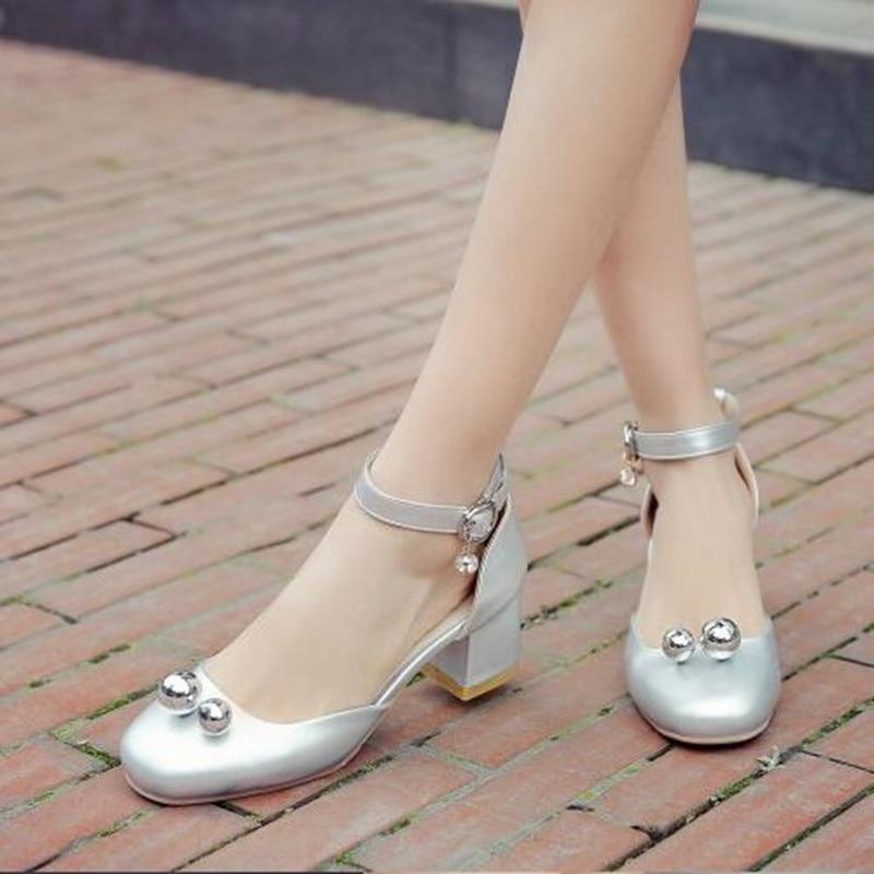 Talones Zapatos De 2 Nuevo Diamante 1 Redonda Mujeres Señoras Hebillas Verano Las Cabeza y6pwqwYz