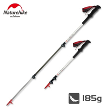Naturehike Carbon Cork Trekking Poles Adjustable Ultralight Hiking Sticks Walking Canes Alpenstocks For Backpacking Climbing