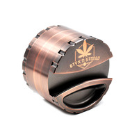 1 X Pesado Liga de Zinco Hornet Gridner Dia.80MM 4 Partes Moedor Do Tabaco Crusher Herb/Spice Grinder Com suporte de Papel armazenamento