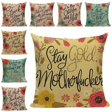 Flowers and Letters Cushion Cover Home Decor Pillow Cover for Sofa Romantic Valentine Day Gift Pattern Pillowcase Seat Cushions(China)