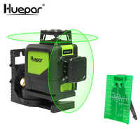 Huepar Self-leveling Professional Green Beam Cross Line Laser 360-Degree Coverage Horizontal and Vertical Line with Pulse Modes