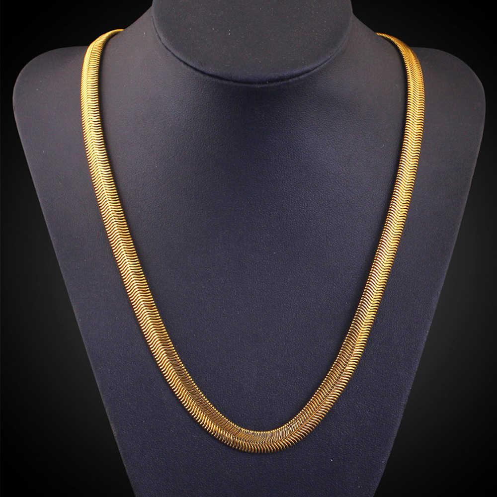 10 pièces/ensemble or joint collier or mode bijoux en gros 6 MM collier sous forme de serpent homard fermoirs 20 pouces de longueur