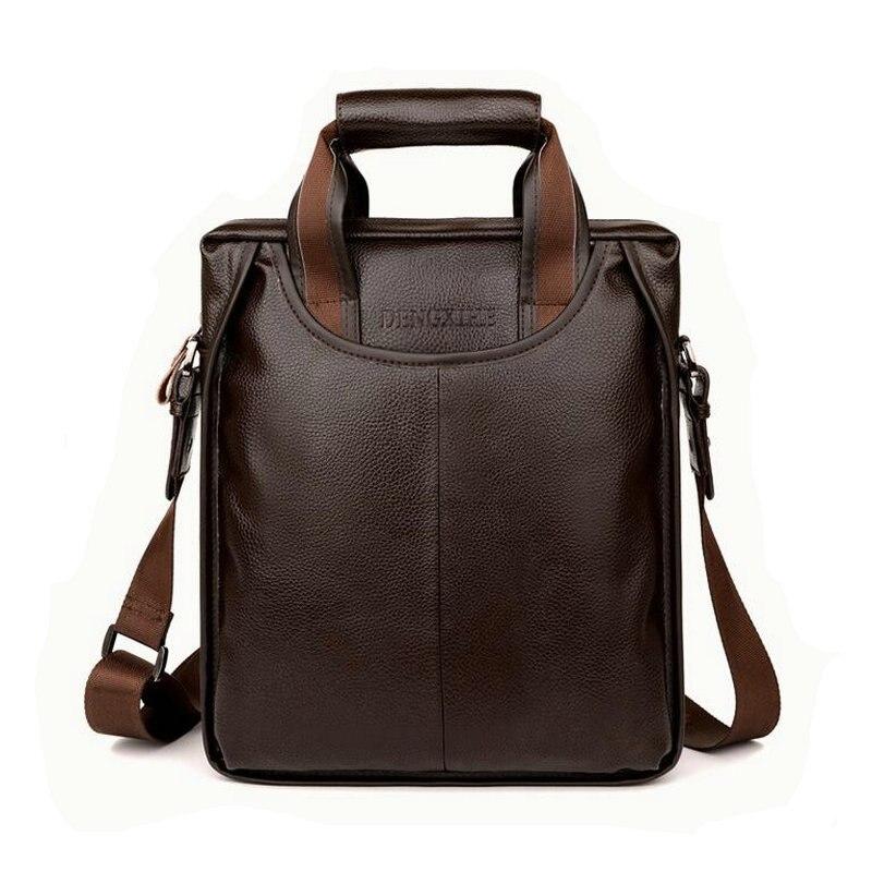 2017 Männer Casual Aktentasche Business Schulter Echtem Leder Messenger Bags Computer Laptop Handtasche Herren Reisetaschen Handtaschen Der Preis Bleibt Stabil