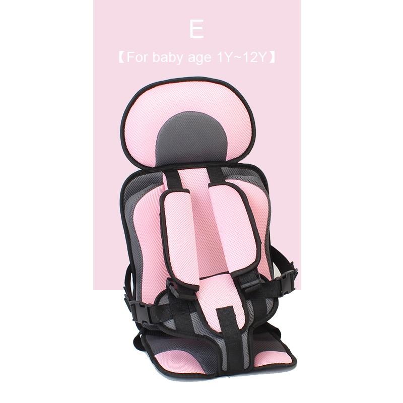 1 шт. удобный детский коврик для сидения, Детские Портативные дорожные подушки для стульев с ремнем безопасности, коврики для сидения для малышей в возрасте От 6 месяцев до 12 лет - Цвет: E