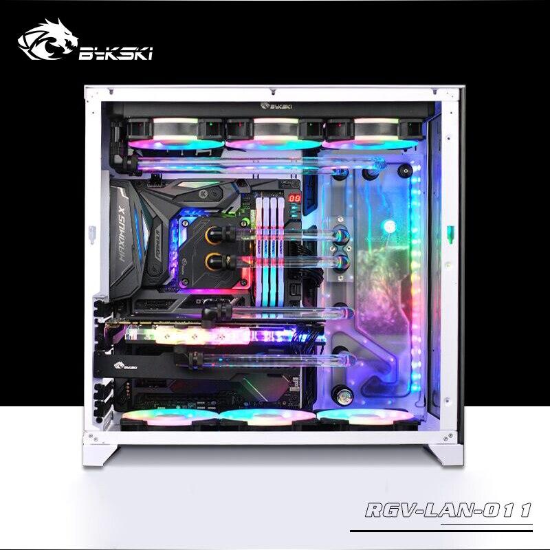 BYKSKI Acrilico Bordo Canale di Acqua Soluzione uso kit per LIAN LI O11 Caso Dinamico/Kit per CPU e GPU blocco/Invece serbatoio