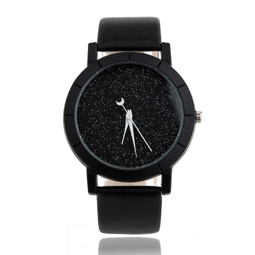 xiniu watch women star minimalist watches elegant rhinestone female quartz thin leather strap. Black Bedroom Furniture Sets. Home Design Ideas