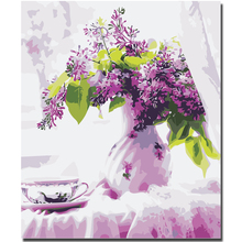 WEEN Blooming Purple Flower-DIY Framed Oil Painting By Numbers, Coloring Modern Wall Art Picture,Home Decor 40X50CM
