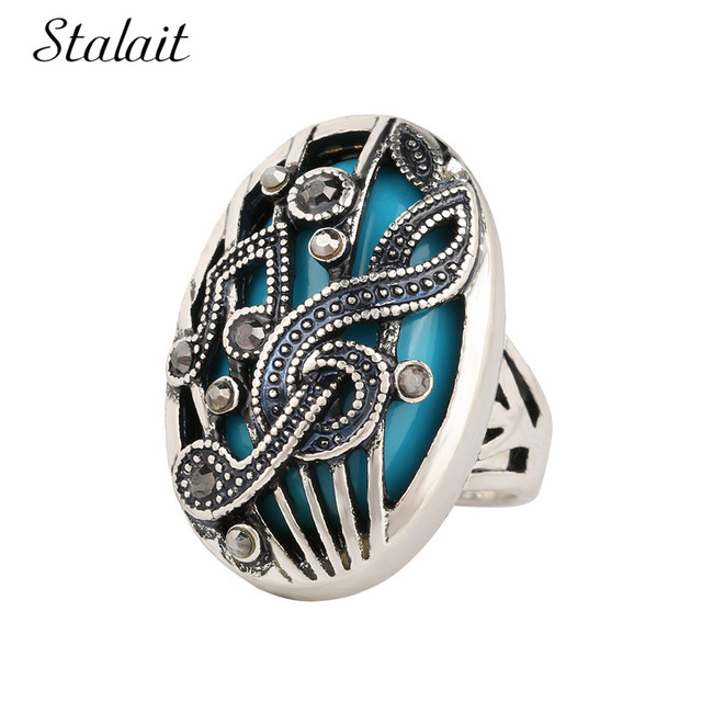 2017 Hollow Music Symbols Note Rings For Women Plating Ancient