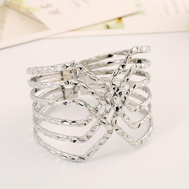 Lzhlq металлический проволочный браслет геометрический узор