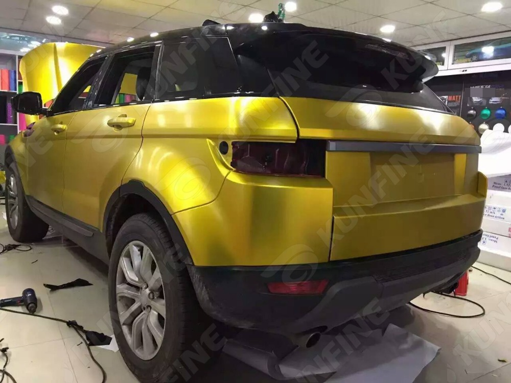 Car Styling Wrap Cold Brushed Gold Car Vinyl Film Body