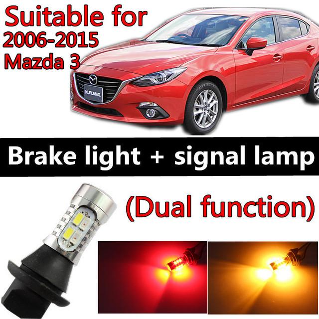 Para mazda 3 acessórios 2006-2015 LED Light Bulb Cauda Pausa Parar Turn Signal luz Dois função de prevenção de Colisão