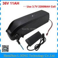 500 Вт вниз трубки аккумулятор 36 В 11AH литиевая батарея 36 вольт электронной велосипед аккумулятор с USB Порты и разъёмы 15A BMS 42 В 2A Зарядное Устро
