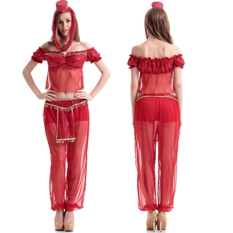 Red Dreamy Sequin Shorts And Pant Genie Costumes and Belly Dancer Costumes Arabia Adult Girls 2016 New Cosplay Costumes-in Sexy Costumes from Novelty ...  sc 1 st  AliExpress.com & Red Dreamy Sequin Shorts And Pant Genie Costumes and Belly Dancer ...