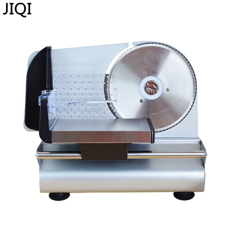 JIQI Meat slicing machine Household electric meat slicer bread vegetable fruit slicers cutter for frozen beef mutton 110V/220V stainless steel manual meat slicer machine mutton meat cutter commercial household frozen meat cutter vegetable fruit planer