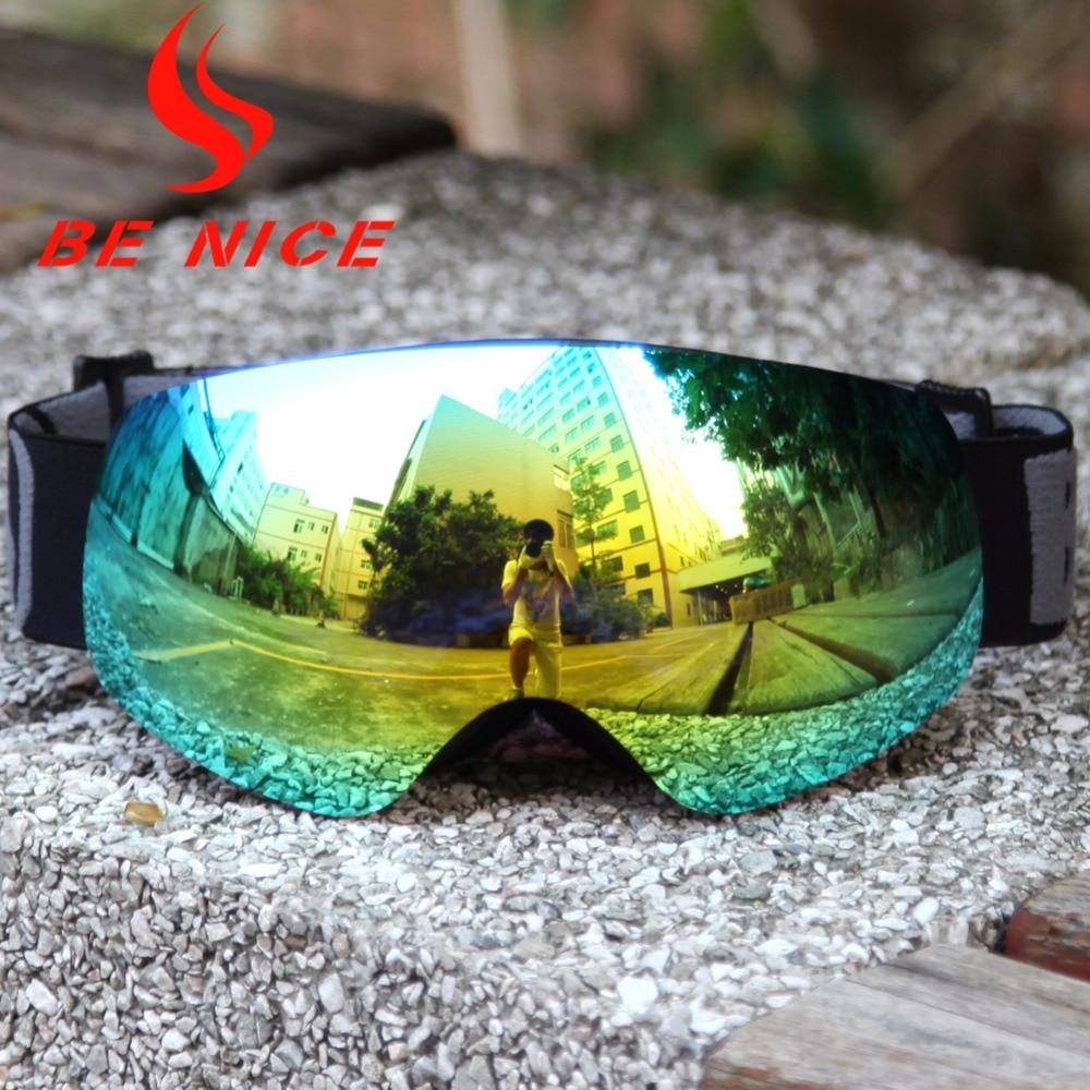 Детские горнолыжные очки двойной UV400 Анти-туман маска очки Обувь для девочек Обувь для мальчиков сноуборд