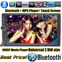 Car Radio 7 Inch LCD Touch Screen Car Radio Player BLUETOOTH Hands Free 1080P Movie Rear