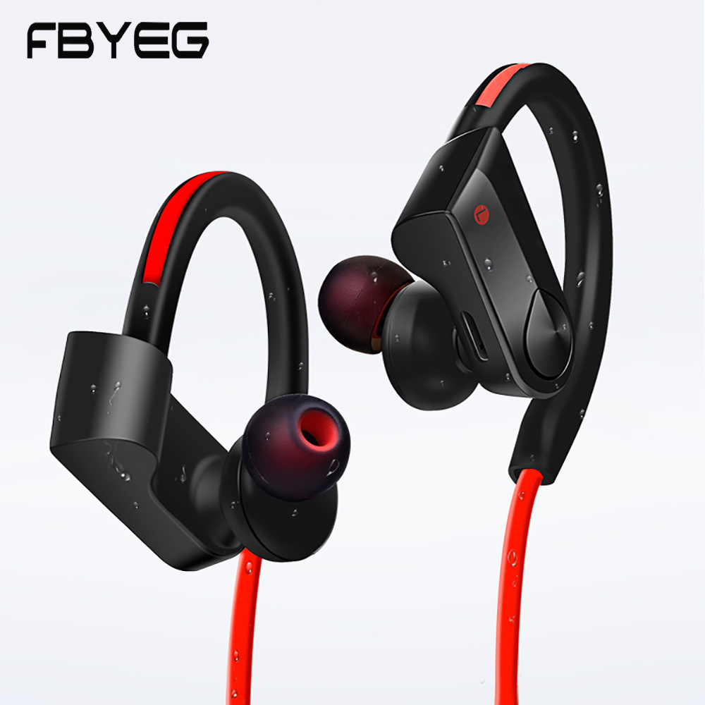 FBYEG K98 Bluetooth Earphone Wireless Headphone sport sweatproof headset bass noise canceling headphones with Mic for phone original brand headphone ptm k1 super bass earphone headset noise canceling earbuds for mobile phone iphone pc earpods airpods