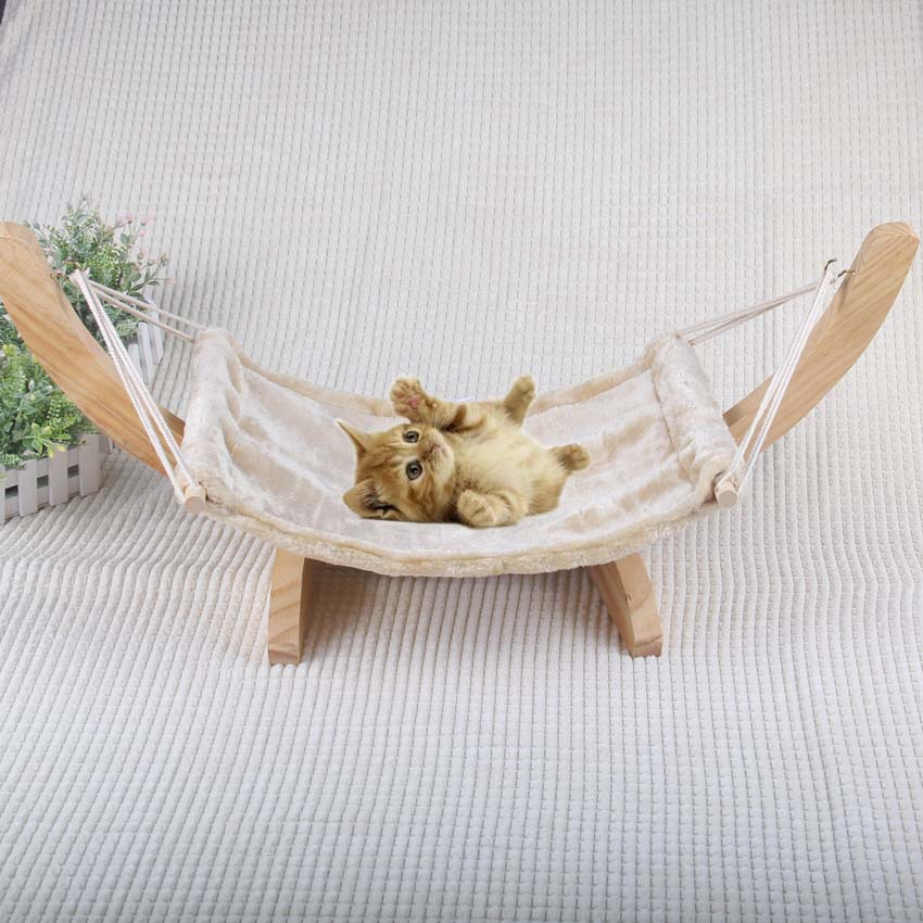 Soft Flock kočičí křeslo stromu Hammock postelí okna kočka klece houpací síť umývatelné Cat Kitty dřevěné postel mat matrace postel