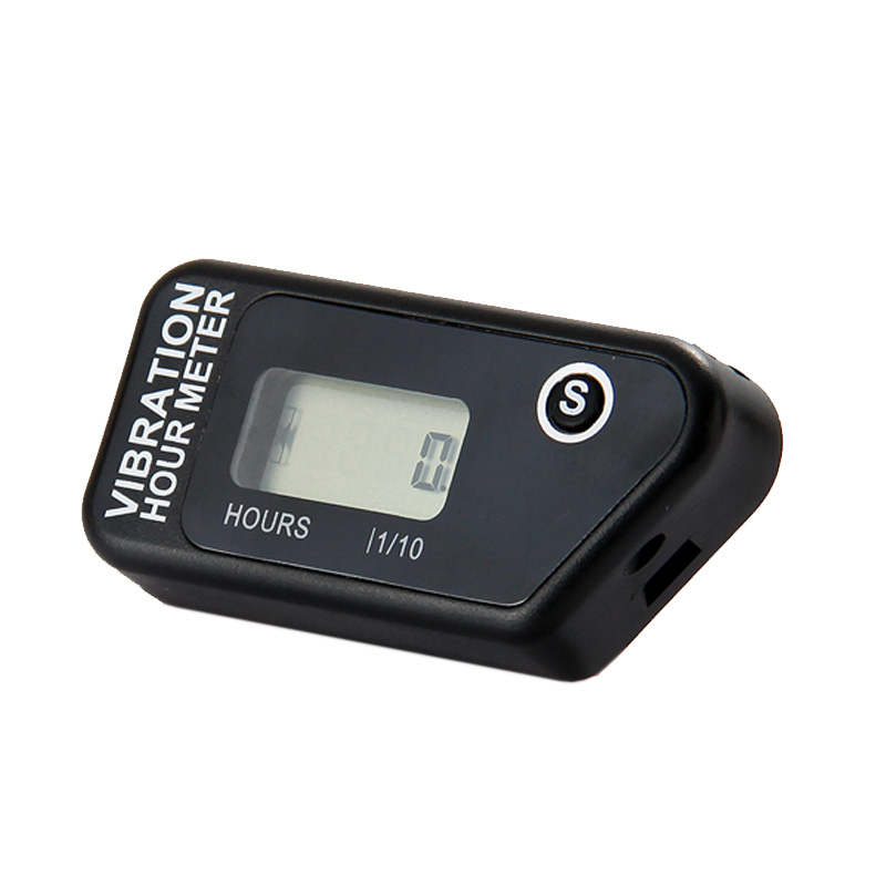 Water proof LCD wireless Vibration Hour meter counter For Motocross engine boat Snowmobi ...