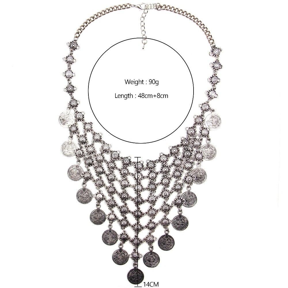 Ztech 18 Women Necklaces & Pendants Vintage Crystal Maxi Choker Statement Collier Femme Boho Big Fashion Jewellery Wholesale 13