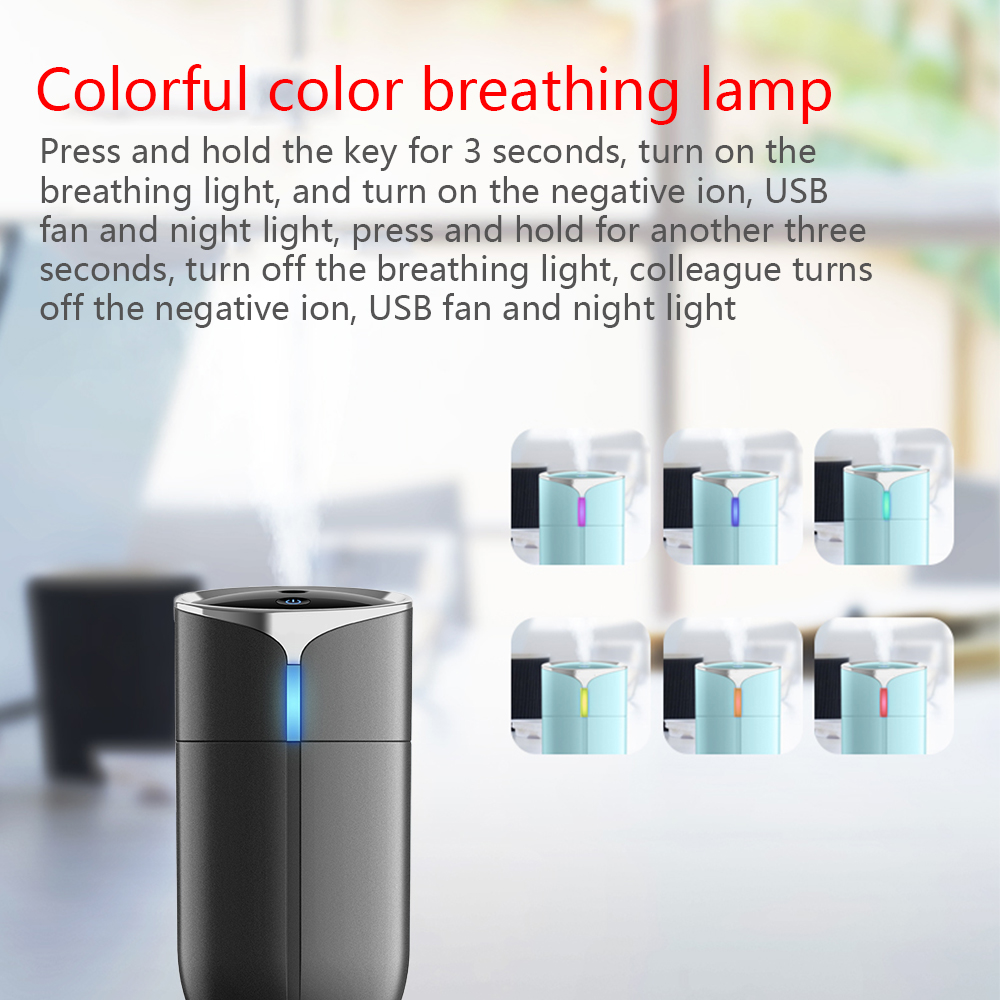 Image 4 - New Creative 230ML Portable Household Car Anion Humidifier Portable USB 4 in 1 Aromatherapy Humidifier Car Air Cleaning Device-in Car Air Humidifier from Automobiles & Motorcycles