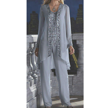 women 3 piece elegant sequins chiffon mother of the