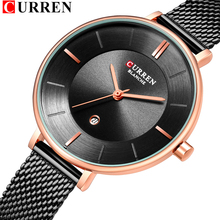 Ladies Mesh Watch 2019 Best Gift for Women Fashion Slim Stainless Steel Wristwatches CURREN New Female Quartz Clock Montre Femme