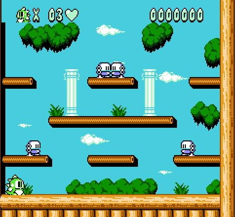 Bubble Bobble Part 2 <font><b>72</b></font> <font><b>Pins</b></font> <font><b>Game</b></font> <font><b>Card</b></font> For 8 Bit <font><b>Game</b></font> Player image