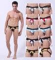 2015 new design sexy men's Ultra Low Rise mesh jockstrap gay men Performance Butt Lift G-Strings & Thongs