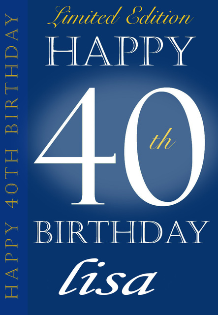 Happy 40th Birthday Custom Wine Bottle Label Personalised Champagne Stickers