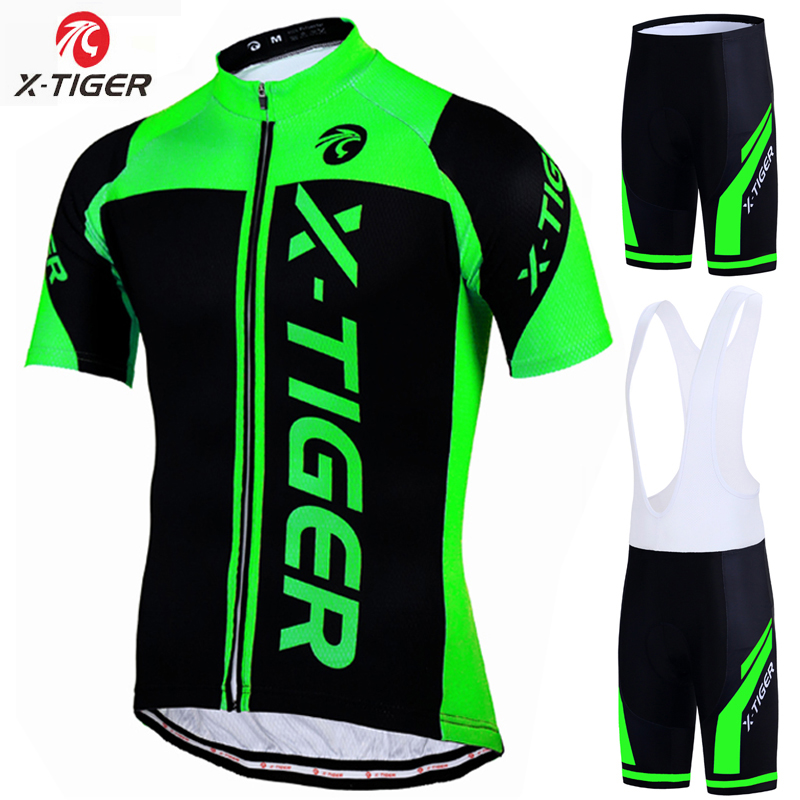 X-Tiger 100% Polyester Pro Cycling Jersey Set MTB Bicycle Clothes Sportswear Bike Clothing Maillot Ropa Ciclismo Cycling Set veobike 2018 pro team summer big cycling set mtb bike clothing racing bicycle clothes maillot ropa ciclismo cycling jersey sets