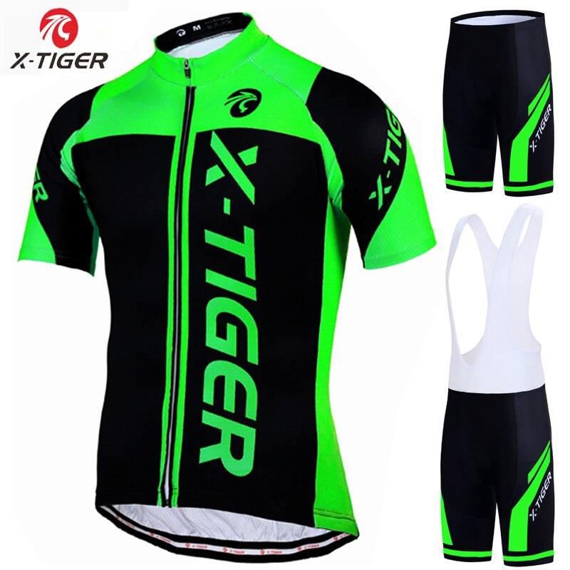 X-tiger 100% poliester profesjonalny strój kolarski MTB ubrania do jazdy rowerem odzież sportowa odzież rowerowa Maillot Ropa Ciclismo zestaw rowerowy