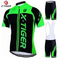 X tiger 100% poliester profesjonalny strój kolarski MTB ubrania do jazdy rowerem odzież sportowa odzież rowerowa Maillot Ropa Ciclismo zestaw rowerowy w Zestawy rowerowe od Sport i rozrywka na